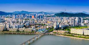 Skyline of Seoul, Korea