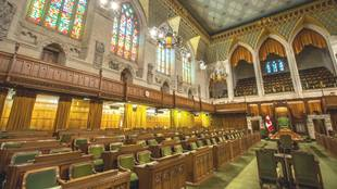 inside of House of Commons In Ottawa
