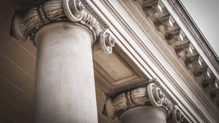 closeup of columns at courthouse