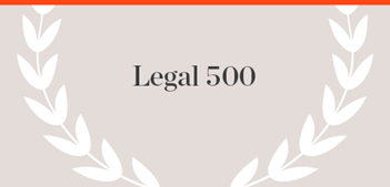 Legal 500 Publication name with laurels
