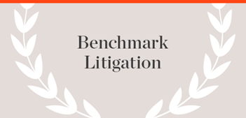 Benchmark Litigation Publication name with laurels