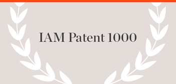 IAM Patent 1000 Publication name with laurels