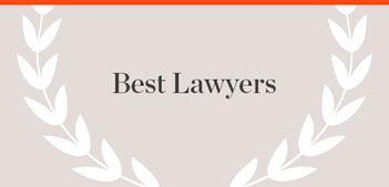Best Lawyers Publication name with laurels